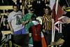 Irish Captain, Colin Falvey, with the Irish flag and a fan