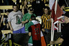 Irish Captain, Colin Falvey, with the Irish flag and a fan