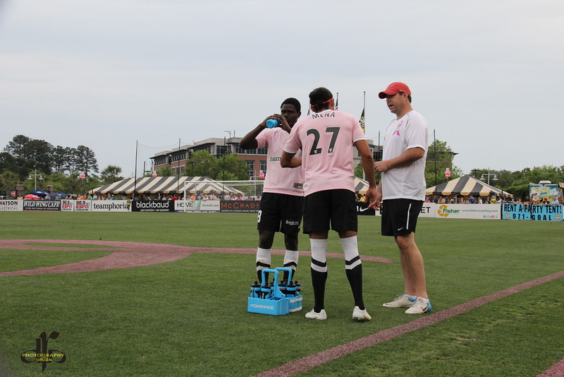Andre Lewis, Adam Mena, and trainer Bobby Weisenberger