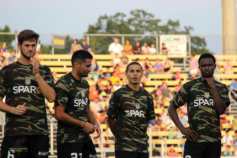 Jarad, Adam, Justin, and Dane sport the pre-game look