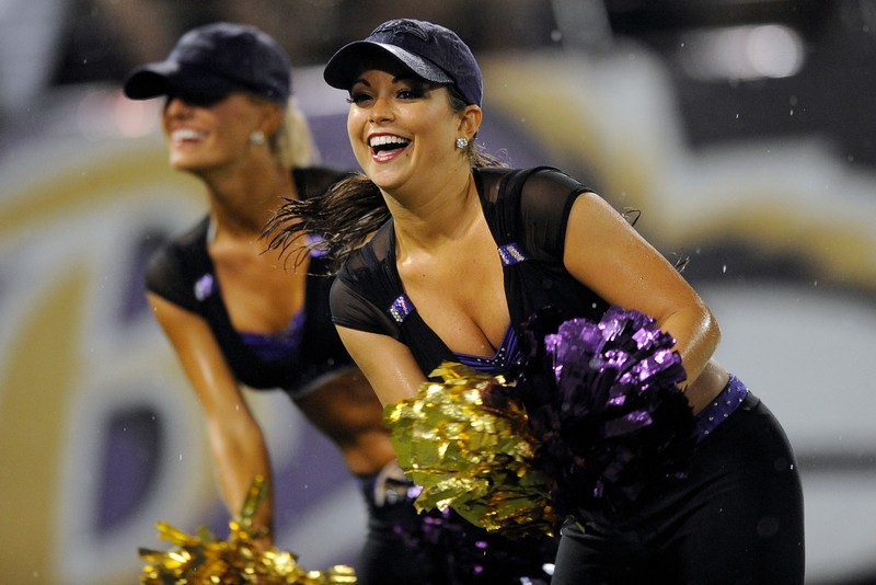 69375ffb5bc The Baltimore Ravens cheerleaders perform during the second half of an NFL  football game against the