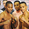 Globe/T. Rob Brown<br /> Main event opponents Fortuna (left) and Franco pose during a weigh-in for professional boxing for ESPN2.