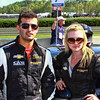 Grand-Am Continental Tire CKS Autosport Drivers Brett Sandberg and Ashley McCalmont Barber