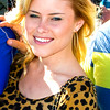 Pop singer Alexandra Amor hanging out in the fanzone of the 2011 Daytona 500