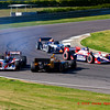 Simona de Silverstro gets sideways near end of Indy Grand Prix of Alabama at Barber Motorsports Park