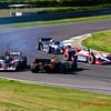 Simona de Silverstro gets sideways near end of Indy Grand Prix of Alabama at Barber Motorsports Park