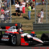 Indy Grand Prix of Alabama Winner Castroneves pumps fist after win at Barber Motorsports Park