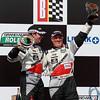 Grand-Am Rolex GT Winners Sylvain Tremblay and Jonathan Bomarito Victory Lane Barber