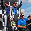 Grand-Am Rolex SPorts Car Series Spirit of Daytona Team celebrates winning Porsche 250