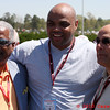 Birmingham Mayor Bell, NBA great Charles Barkley, and Hoover Mayor Petelos at Barber Motorsports Park Alabama for Indy race.