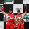 Aim Autosport Emil Assentato and Jeff Segal celebrate 2nd GT Grand-Am Rolex Porsche 250 at Barber 250