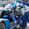 Scott Pruett and Memo Rojas swap driving 01 BMW Riley TELMEX Grand-Am car Barber