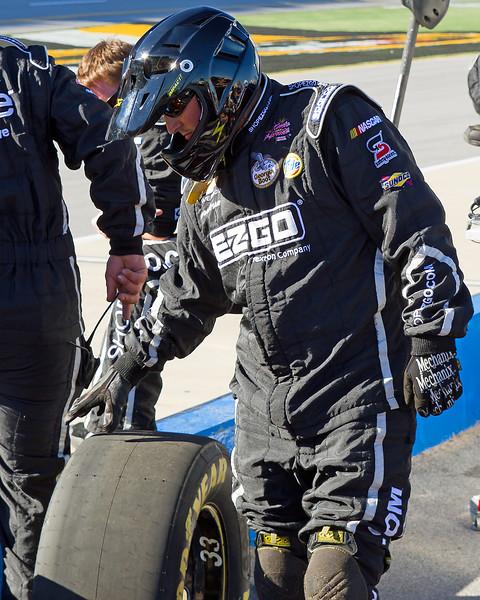 Hornaday Team Member in pit at Talladega.