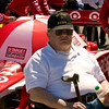 Papa on starting grid in front of Target Chip Ganassi Car of Scott Dixon