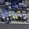 Jimmie Johnson with the Lowe's 48 in the pits at Talladega