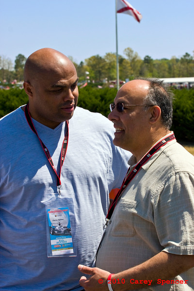 Charles Barkley and Hoover Mayor Petelos at Indy Grand Prix of Alabama at Barber Motorsports Park