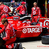 Scott Dixon Target Izod Indycar series crew prepares for Indy Grand Prix of Alabama at Barber Motorsports Park