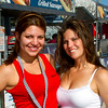 Although it was late in the day, these 2011 Daytona 500 Fanzone Bud Girls remained friendly