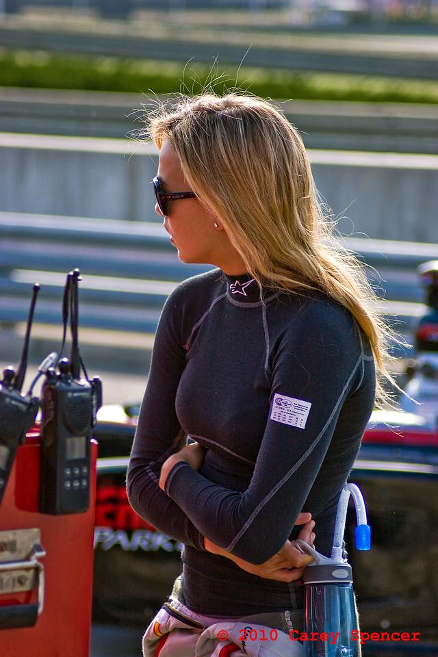 Carmen Jorda Firestone Indy Lights Driver Taking a Break Trackside Barber Motorsports Park Alabama