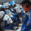 BMW Riley TELMEX driver swap fuel and tires in pit at Barber Grand-Am Rolex Porsche 250