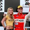 Continental Tire Girl Podium Grand -Am Rolex driver Segal after 2nd Place GT finish Porsche 250