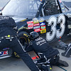 Hornaday's #33 truck almost ready to go after tire change.