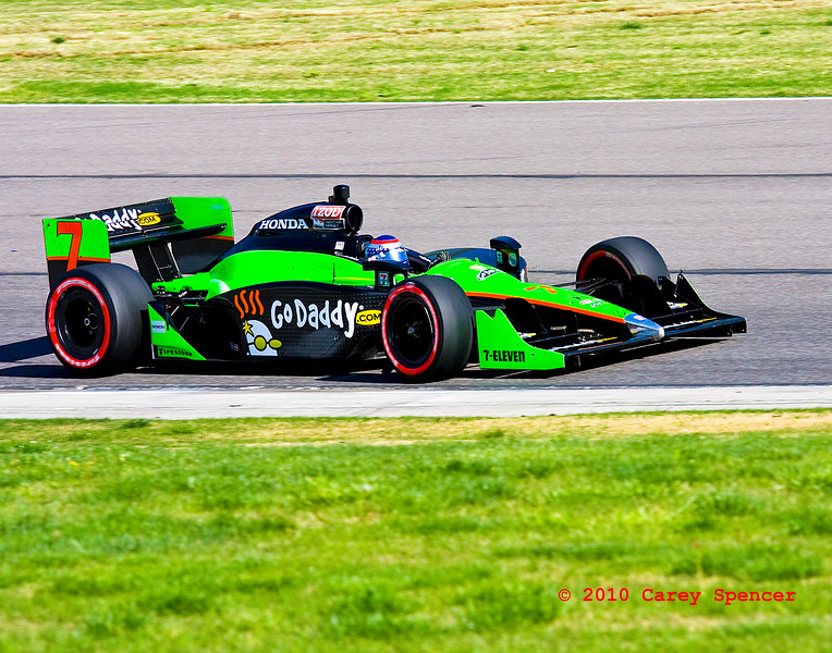 Danica Patrick Going Down Back Straight at Indy Grand Prix of Alabama at Barber Motorsports Park