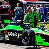 GoDaddy car being prepared for Grand Prix of Alabama at Barbebr Motorsports Park