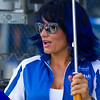 Team Graves Yamaha Girl.  You've got to love the blue hair!