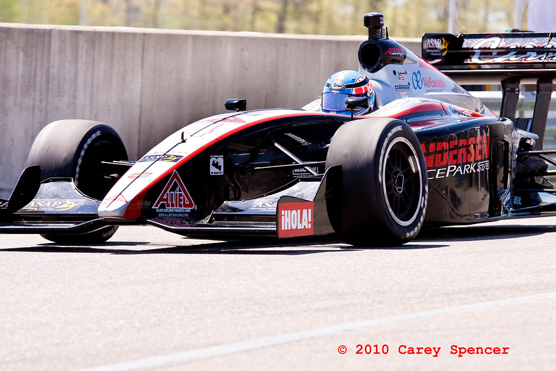 Anderson Racing Carmen Jorda on Barber Motorsport Track during the Indy Light Race
