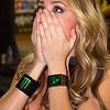 Monster Energy Drink Girl Atlanta AMA Supercross Georgia Dome crash reaction