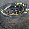 """Tire from Ron Hornaday's Truck after the """"Big One."""""""