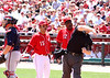 Reds skipper Dusty Baker is ejected arguing balls and strikes.