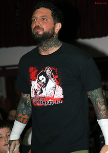 Vinny Marseglia (aka Vinny Marselya aka Vinny Nero) prior to his match against Jason Blade at Lucky Pro Wrestling's Fall Frenzy show held on October 12, 2013 in Clinton, Massachusetts.