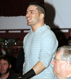 Jason Blade prior to his match against Vinny Marseglia at Lucky Pro Wrestling's Fall Frenzy show held on October 12, 2013 in Clinton, Massachusetts.