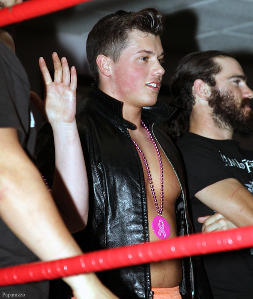 Teen pro wrestler Cam Zagami during Lucky Pro Wrestling's Fall Frenzy show held on October 12, 2013 in Clinton, Massachusetts.