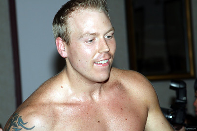 Andy McKenzie prior to his match against Matt Saigon at Lucky Pro Wrestling's Summer Heat show held on July 26, 2013 in Clinton, Massachusetts.