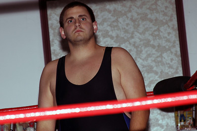 """""""The Clinic"""" Chris James prior to his brief match against Papi Kruz at Lucky Pro Wrestling's Summer Heat show held on July 26, 2013 in Clinton, Massachusetts."""