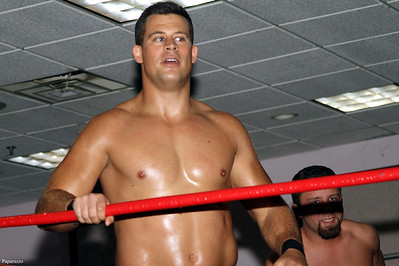 """Mark Shurman and Scotty Slade (with their partner, """"Ladies Man"""" Gregory Edwards) took on Jose Perez, Tim Hughes, and Shady Shay in a six-man tag team match at Lucky Pro Wrestling's Summer Heat show held on July 26, 2013 in Clinton, Massachusetts."""