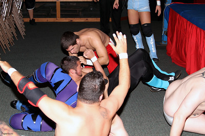 "Team Juicy vs. Zero Tolerance during the 8-man tag team elimination match at the Northeast Championship Wrestling (NCW) ""Big City Rumble"" event held on August 17, 2012 in West Warwick, Rhode Island."