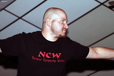 "Buddy Romano of Zero Tolerance before the 8-man tag team elimination match at the Northeast Championship Wrestling (NCW) ""Big City Rumble"" event held on August 17, 2012 in West Warwick, Rhode Island."