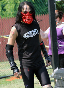 """The Pharaoh of Fear"" Crimson Al-Khemia of The Epidemic prior to their match against The Hollywood Balds (""The Baby Bull"" Chris Dozer and ""Lights Out"" Cipriano Abruzzi) at the Renegade Wrestling Alliance (RWA) Summertime Showdown event."