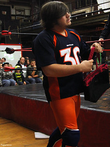 "Nick Marchand (formerly Nick Varsity) prior to his match against Stan Stylez during the Renegade Wrestling Alliance (aka RWA Wrestling) ""Thanksgiving Throwdown"" event held on November 9, 2013 at the Varnum Memorial Armory in East Greenwich, Rhode Island."