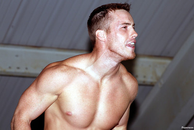 Cameron Matthews argues with the fans during the Top Rope Promotions (TRP) Wrestling show held on June 29, 2012 at the Brockton Fair in Brockton, Massachusetts.
