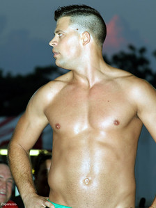 """""""The Sure Thing"""" Mark Shurman prior to his match against """"Hard Hittin"""" Bobby Ocean at  the Top Rope Promotions (TRP) Wrestling show held on June 29, 2012 at the Brockton Fair in Brockton, Massachusetts."""