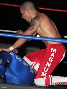 "Matt Magnum vs. ""Mass Appeal"" Jay Jaillet at the Top Rope Promotions (TRP) Wrestling show held on June 29, 2012 at the Brockton Fair in Brockton, Massachusetts."