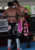 "Tomahawk and Christian Casanova after their match at Lucky Pro Wrestling's ""High Incident 2"" event held on August 20, 2016 at the Elks Lodge Outdoor Pavilion in Hudson, Massachusetts."