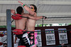 "Tomahawk vs. Christian Casanova at Lucky Pro Wrestling's ""High Incident 2"" event held on August 20, 2016 at the Elks Lodge Outdoor Pavilion in Hudson, Massachusetts."