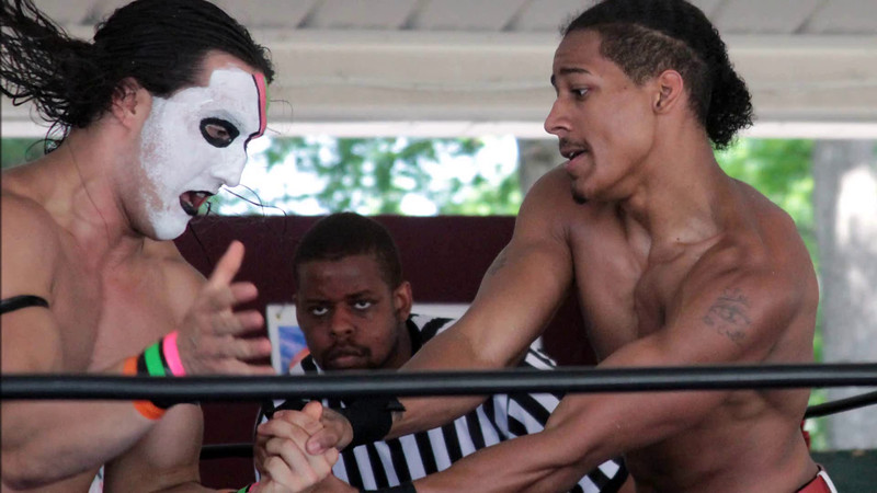 "VIDEO: Tomahawk vs. Christian Casanova at Lucky Pro Wrestling's ""High Incident 2"" event held on August 20, 2016 at the Elks Lodge Outdoor Pavilion in Hudson, Massachusetts."