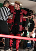 "Dick Lane checked by the referee prior to his tag team match against the Middlesex Express at the 2016 Renegade Wrestling Alliance (aka RWA Wrestling) ""Summertime Showdown"" event."